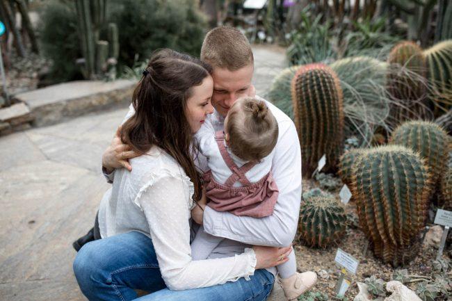 Familienfotos im Botanischen Garten