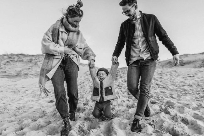 Familienfotoshooting am Strand